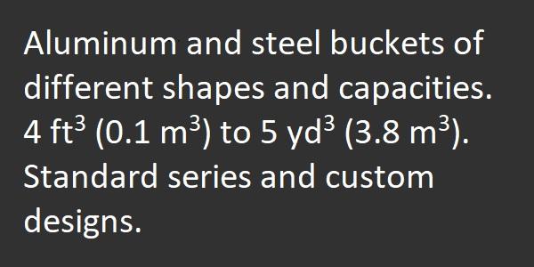 Concrete Buckets Specs